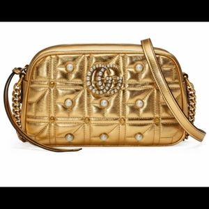 Gucci gg marmont gold bag authentic